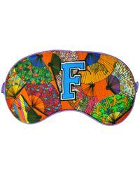 """Jessica Russell Flint """"f"""" For Fans Alphabet Silk Sleep Mask - Blue"""