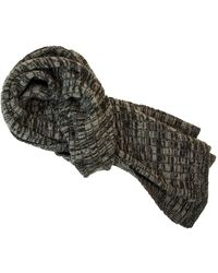 40 Colori - Charcoal Melange Wool & Cashmere Scarf - Lyst