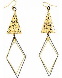 Tiana Jewel Tempest Dalmatian Jasper Drop Earrings - Green