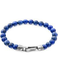Anchor & Crew Blue Sodalite Outrigger Silver And Stone Bracelet