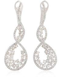 Artisan - 18k White Gold & Diamond Infinity Earrings Jewelry - Lyst