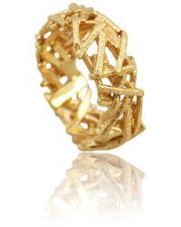 Karolina Bik Jewellery Nest Ring Gold - Metallic