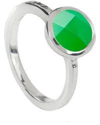 Neola Estella Sterling Silver Ring Chrysoprase - Green