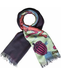 Furious Goose - Hares Spring Reversible Long Scarf - Lyst