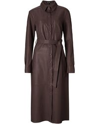 Baukjen Rachel Leather Shirt Dress - Brown