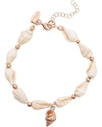 LÁTELITA London Spiral Shell Bracelet Rose Gold - Multicolor