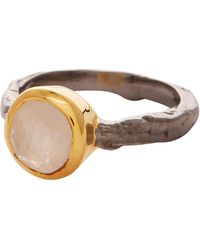 Carousel Jewels - Moonstone Gold And Silver Mix Ring - Lyst