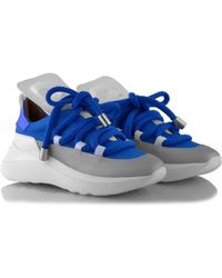 Ganor Dominic Ghost White-silver Trainers - Blue