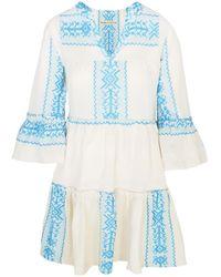 Haris Cotton Polymnia Mini Dress Kalaitis - Blue