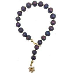 Farra - Deep Purple Pearl Bracelet - Lyst