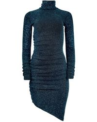 blonde gone rogue New Year Dress In Sparkling Blue - Black