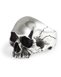 Frederick Grove Silver Skull Ring - Metallic