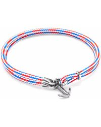 Anchor & Crew - Project-rwb Red White & Blue Brighton Silver And Rope Bracelet - Lyst