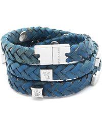 Tissuville - Brio Bracelet Royal Blue Silver - Lyst