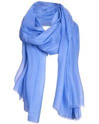 Asneh Lela Large Blue Cashmere Scarf