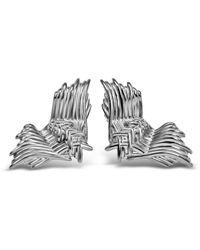 Bellus Domina Angel Wing Stud Earrings - Metallic