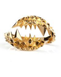 Kasun - Fang Bangle Gold - Lyst