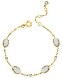 Auree Cannes Green Amethyst & 18ct Gold Vermeil Bracelet - Metallic