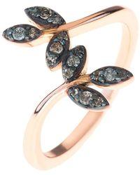 LÁTELITA London - Diamond Leaf Ring Rosegold - Lyst