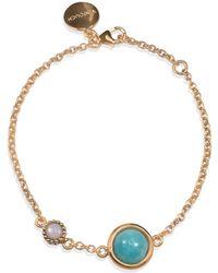 Vintouch Italy Satellite Rose Gold Vermeil Amazonite & Opal Bracelet - Green