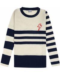 Orwell + Austen Cashmere - Baby Bowie Stripe Reverse Breton - Lyst