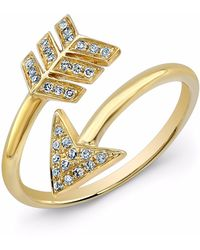 Anne Sisteron 14kt Yellow Gold Diamond Wrap Around Arrow Ring
