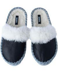 ONAIE White Fur Handmade Mules