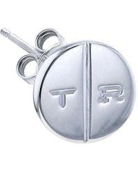 True Rocks - Sterling Silver Round Pill Stud - Lyst