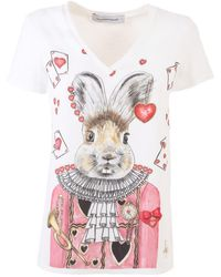 The Extreme Collection White Nicoletta Rabbit T-shirt