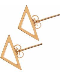 Sally Lane Jewellery - Archer Gold Studs - Lyst