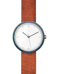 Flint Watches - Blue Patina Burnt Amber Strap - Lyst