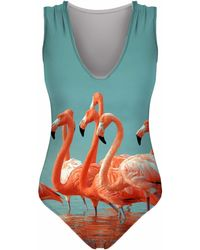 Aloha From Deer - Flamingos Swimsuit - Lyst