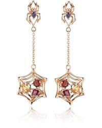 Manja - Anansi Earrings Rose Gold - Lyst