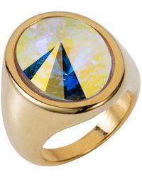 Nadia Minkoff - Oval Ring Gold Crystal Ab - Lyst