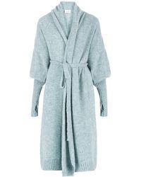 SALANIDA Ballo Alpaca & Silk Blend Long Cardigan - Blue