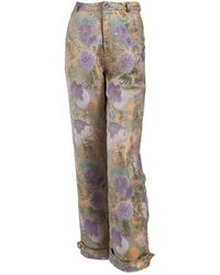 relax baby be cool Brocade High Waist Long Pants With Pockets - Multicolour