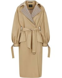Palones Puff Sleeve D-ring Trench Coat - Natural
