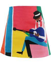 My Pair Of Jeans Jazz Miniskirt - Multicolour