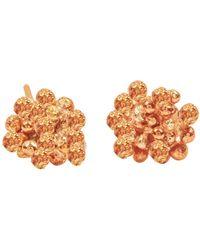 Lily Flo Jewellery - Rock Chic Flower Stud Earring In Solid Rose Gold - Lyst