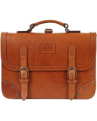 THE DUST COMPANY Mod 101 Briefcase In Cuoio Brown