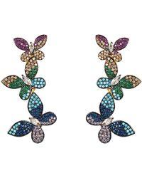LÁTELITA London Butterfly Rainbow Drop Earrings Gold - Metallic