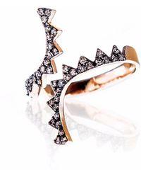 Sadekar Jewellery - Open Gear Ring - Lyst