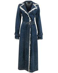 Thale Blanc Chicago Denim Coat Long - Blue