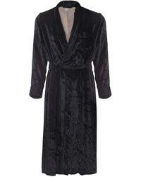 Lotte.99 Velvet Smoking Robe - Black