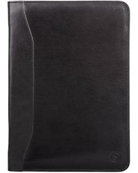 Maxwell Scott Bags - Dimaro Luxury Black Italian Leather Conference Folder - Lyst