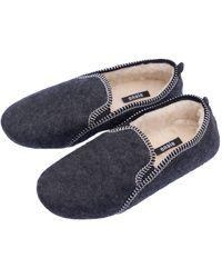 ONAIE Mens Grey Felt Slippers