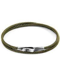 Anchor & Crew Classic Grey Liverpool Silver & Rope Bracelet - Metallic