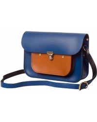 N'damus London - Navy & Tan Leather Mini Pocket Satchel - Lyst