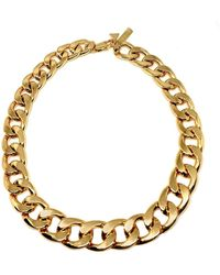 Coup de Coeur London Gold Chunky Chain Necklace - Metallic