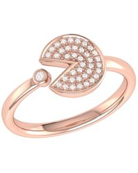 LMJ Pac-man Candy Ring In 14 Kt Rose Gold Vermeil On Sterling Silver - Metallic